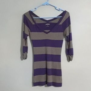 Offers Welcome   Express 3/4 Sleeves Sweater
